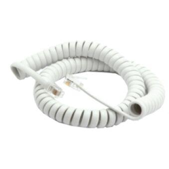Câble RJ9 spirale blanc extensible 3m