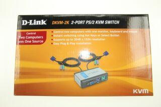 MINI SWITCH KVM 2/1 AUTO - PS2/VGA + CABLES