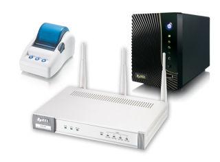 Pack ZYXEL N4100 imprimante SP300E et Serveur NSA LOG