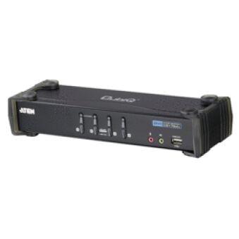 Switch KVM desktop 4 ports DVI USB audio + USB