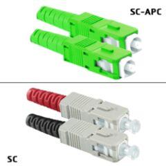 Jarretière dup. monomode SC-APC/SC 9/125 OS3 2m