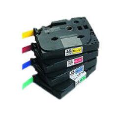 Ruban TZ laminé 12mm noir / vert