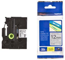 Ruban TZ laminé 12mm noir / orange fluo