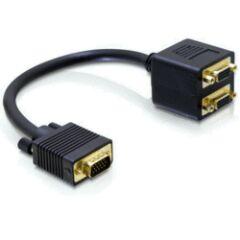 Adaptateur doubleur VGA Mâle / 2 VGA Femelle