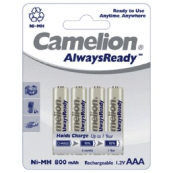 Pack 4 accus LR03 Ready To Use NiMH 800mAh