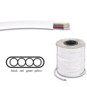 Rouleau de câble méplat RJ11 4 fils 100m blanc