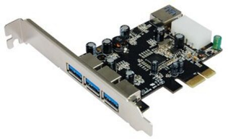 Carte USB 3.0 PCI Express 3+1 ports