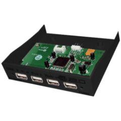 "Hub USB 2.0 4 ports interne format 3""1/2 noir"