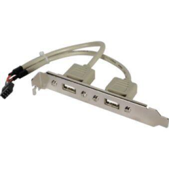 Adaptateur slot USB 2.0 2 ports A