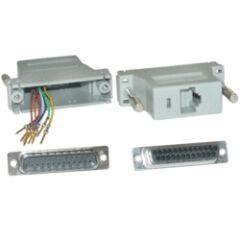 Adaptateur modulaire RJ45 / DB25 Mâle