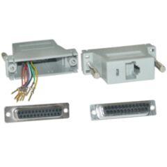 Adaptateur modulaire RJ45 / DB25 Femelle
