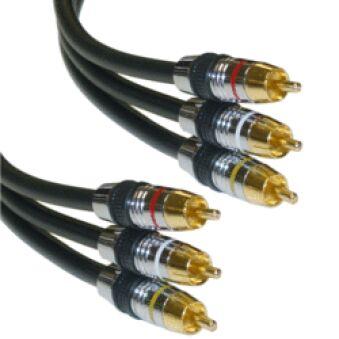 Câble vidéo 3 RCA Gold HQ YPbPr 1.5m