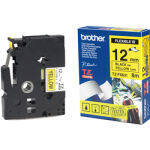 Ruban TZ flexible 12mm noir / jaune