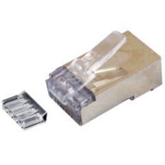 Sachet de 10 connecteurs RJ45 STP avec insert