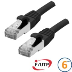 Cordon RJ45 Cat 6 F/UTP Primacy 1m noir