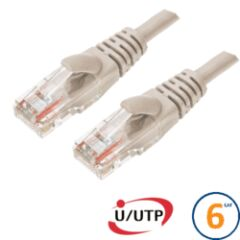 Cordon RJ45 Cat 6 U/UTP Primacy 5m beige