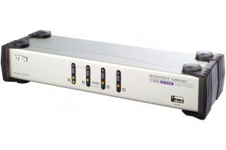 Switch KVM desktop 4 ports dual VGA USB audio