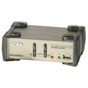 Switch KVM desktop 2 ports VGA USB audio