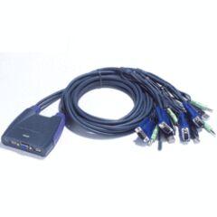 Mini switch KVM 4 ports VGA USB audio câbles int.