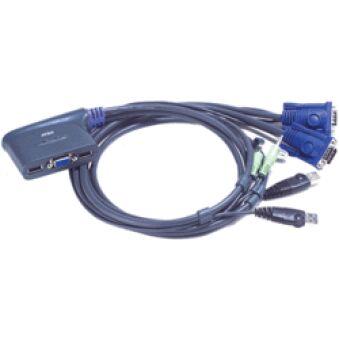 Mini switch KVM 2 ports VGA USB audio câbles int.