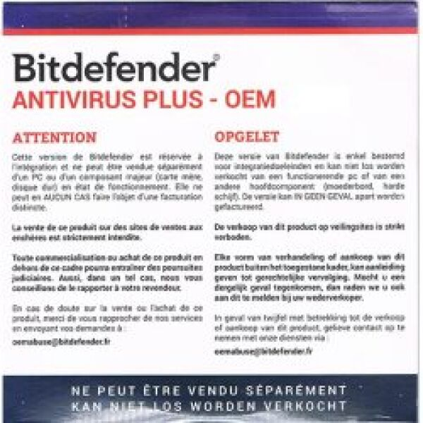 cd anti virus essential 1 an 1 pc oem achat vente bitdefender bd avoem. Black Bedroom Furniture Sets. Home Design Ideas