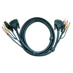 Câble KVM 2L-7D02UD - USB/DVI/AUDIO 3m