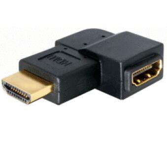 Adaptateur HDMI Mâle / Femelle coudé gauche