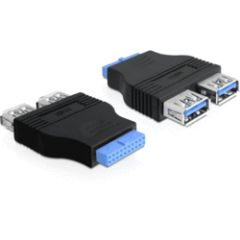 Adaptateur interne USB HE20 / 2 USB 3.0 type A