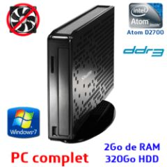 PC XS35V3 - ATOM D2700 / 2Go DDR3 / 320Go / Win.7