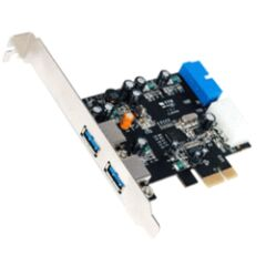 Carte USB 3.0 PCI Express 2 + 1 port HE19 dual pr.