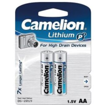 Pack 2 piles Lithium LR06 AA Ultra Long life