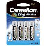 Pack 4 piles Digi alcaline LR06 AA Long life