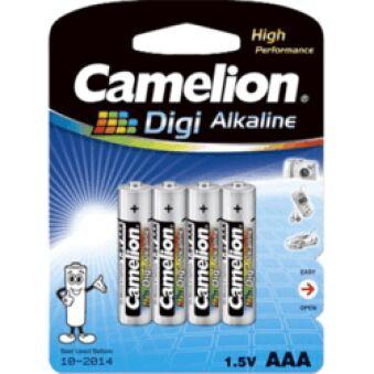Pack 4 piles Digi alcaline LR03 AAA Long life