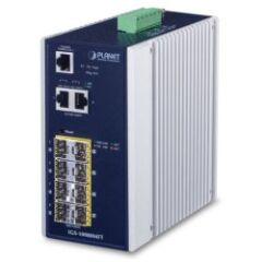 Switch indus man.IP30 8x SFP +2 Giga RJ45 -40/75ø