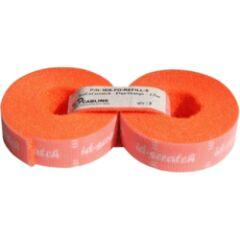 2 recharges attache câbles velcro  2.5m Orange