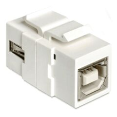 Embase Keystone USB2.0 A femelle >USB2.0 B femelle