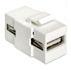 Embase Keystone USB2.0 A femelle >USB2.0 A femelle