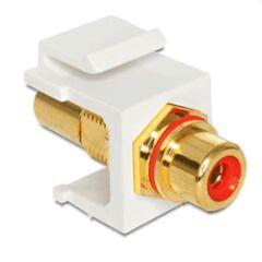 Embase Keystone RCA femelle > RCA fem. rouge gold
