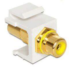 Embase Keystone RCA femelle > RCA fem. jaune gold