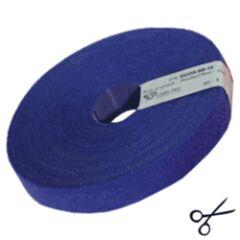 Attache câbles velcro  10m bleu