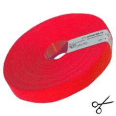Attache câbles velcro  10m rouge