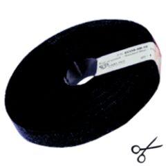 Attache câbles velcro  10m noir