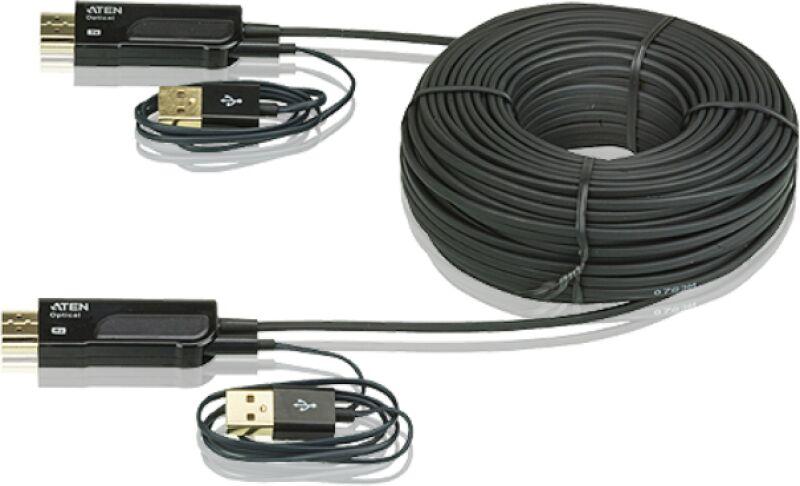 c ble hdmi optique actif 4kx2k plug play 30m achat vente aten ve873. Black Bedroom Furniture Sets. Home Design Ideas