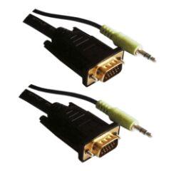 Câble vidéo VGA + Audio Mâle / Mâle 20m