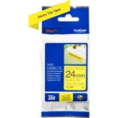 Ruban TZ Adhésif puissant 24mm noir / jaune