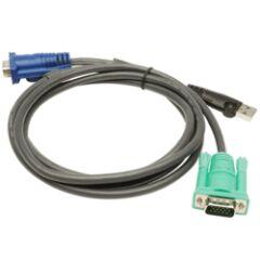 CABLE KVM 2L-5202U - USB/VGA VERS SPHD 1.8M