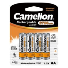 PACK 4 PILES RECHARG NiMH 2700mAh VIDEO/PHOTO LR6