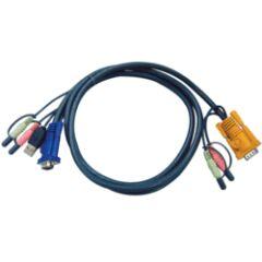 CABLE KVM 2L-5302U - VGA/USB/AUDIO VERS SPHD 1.8M