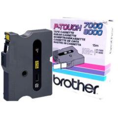 Bro rubans ptouch noir/jaune 12mm tx631