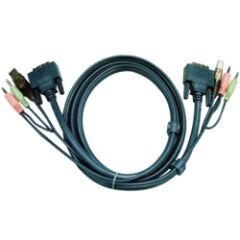 CABLE KVM 2L-7D03U - USB/DVI/AUDIO 3M